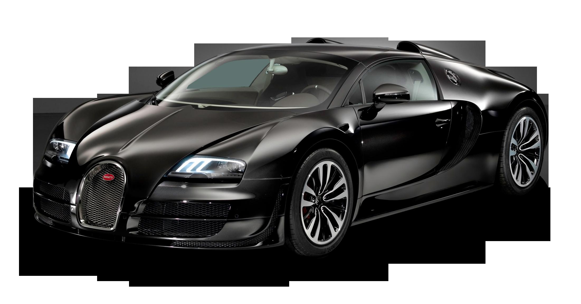 Black Bugatti Veyron Grand Sport Vitesse Car PNG Image