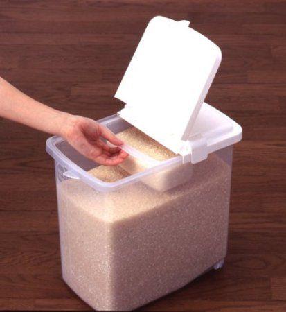 Amazon.com: Kome Bitsu Rice Storage Container 22 Lbs #5105: Kitchen U0026