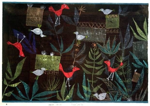paul klee bird garden 1924 pinakothek der moderne m nchen decoration pinterest paul. Black Bedroom Furniture Sets. Home Design Ideas