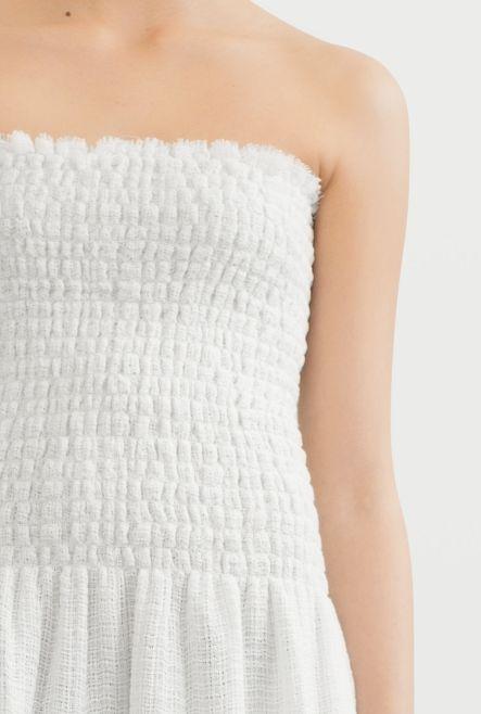 DRESS SHARIF TERRY NET WHITE   Rodebjer