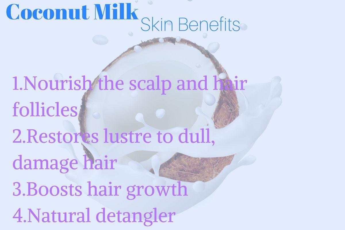 Benefits of coconut milk. skincare coconutmilk haircare