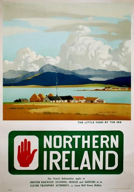 Vintage The Antrim Coast Road Northern Ireland Transport Poster Print A3//A4