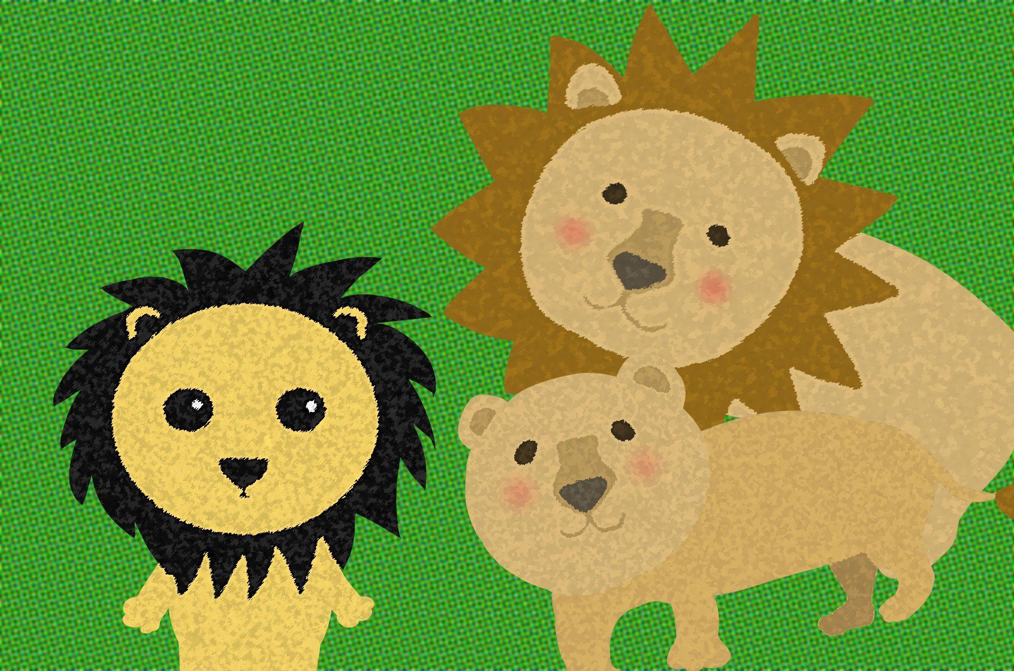 ライオンの可愛いイラスト フリーイラスト素材集 ライオン