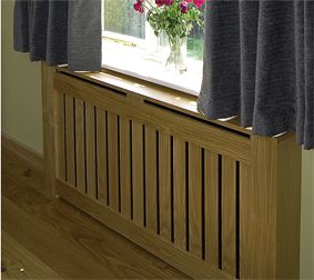 Modular Radiator Cover In Oak With Slatted Grille From Artisan Design Co Uk