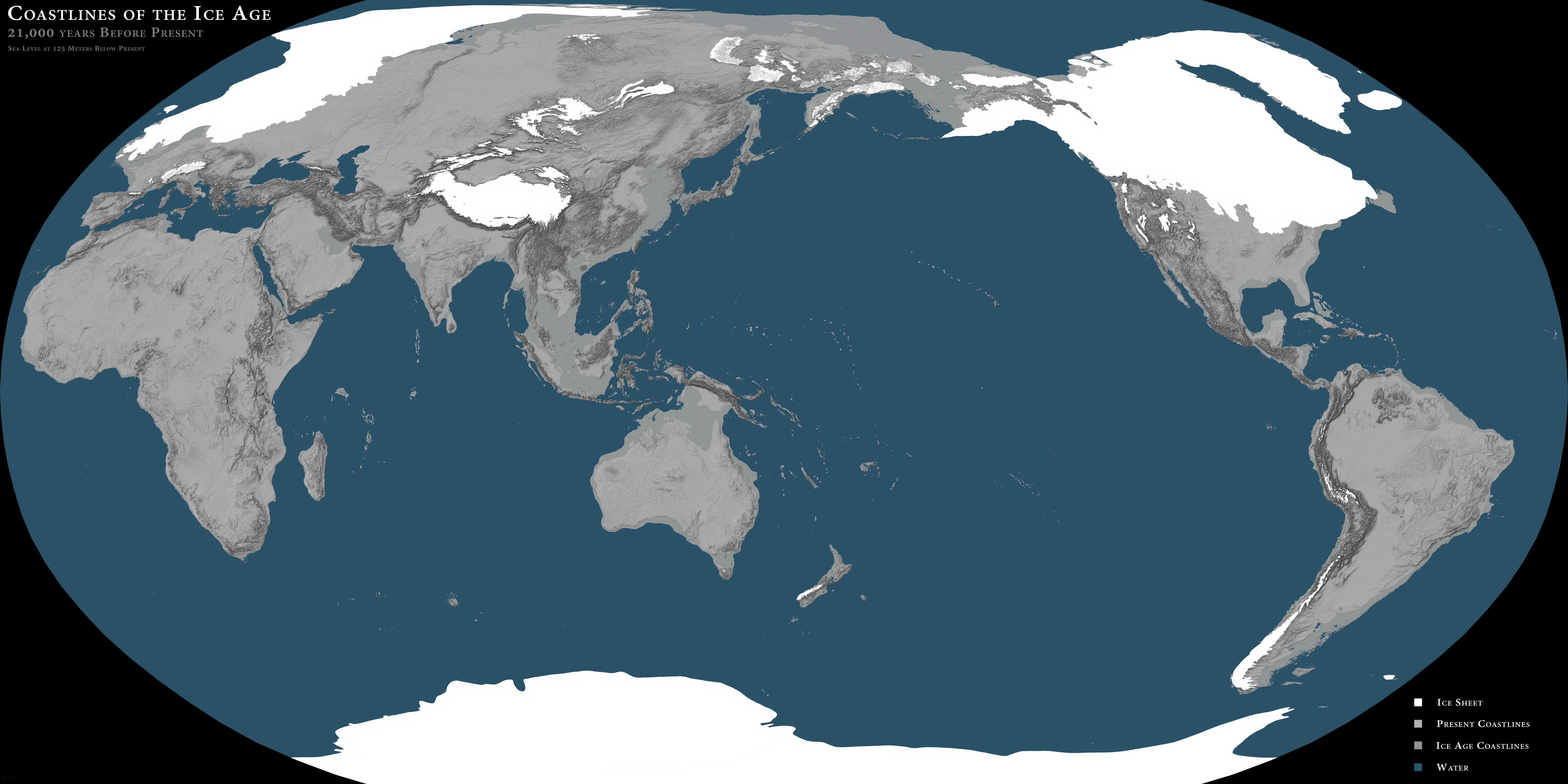 Así Era El Mapa Del Mundo En La última Glaciación Http Blgs Co Ygtjht Mapas Del Mundo Glaciaciones Mapa Del Mundo