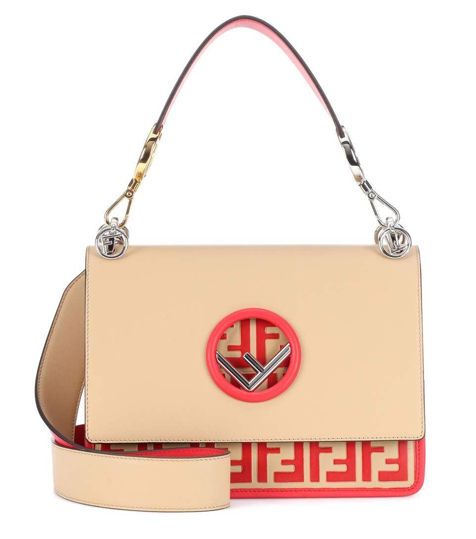 Fendi Kan I F leather shoulder bag  02204ab2189f8