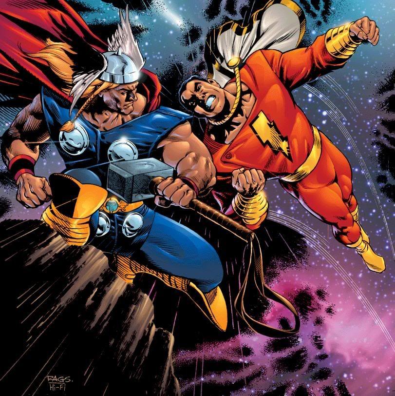 The Mighty Thor Vs Captain Marvel