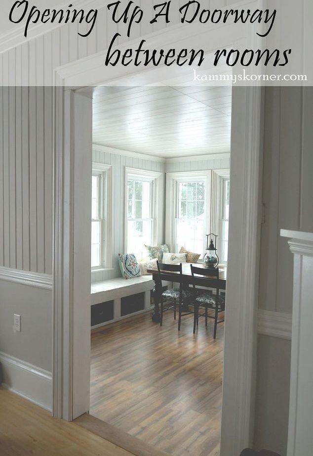 opening up a doorway between rooms entertainment rec