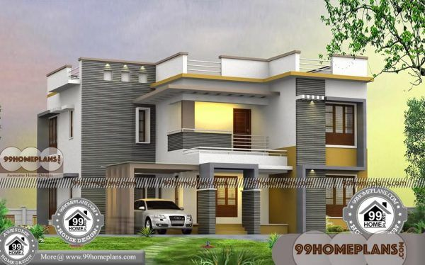 4 Bedroom Bungalow Plans With Two Level Flat Roof Stylish Collections Architect Design House Flat Roof House House Plans