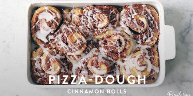 Pizza-Dough Cinnamon Rolls