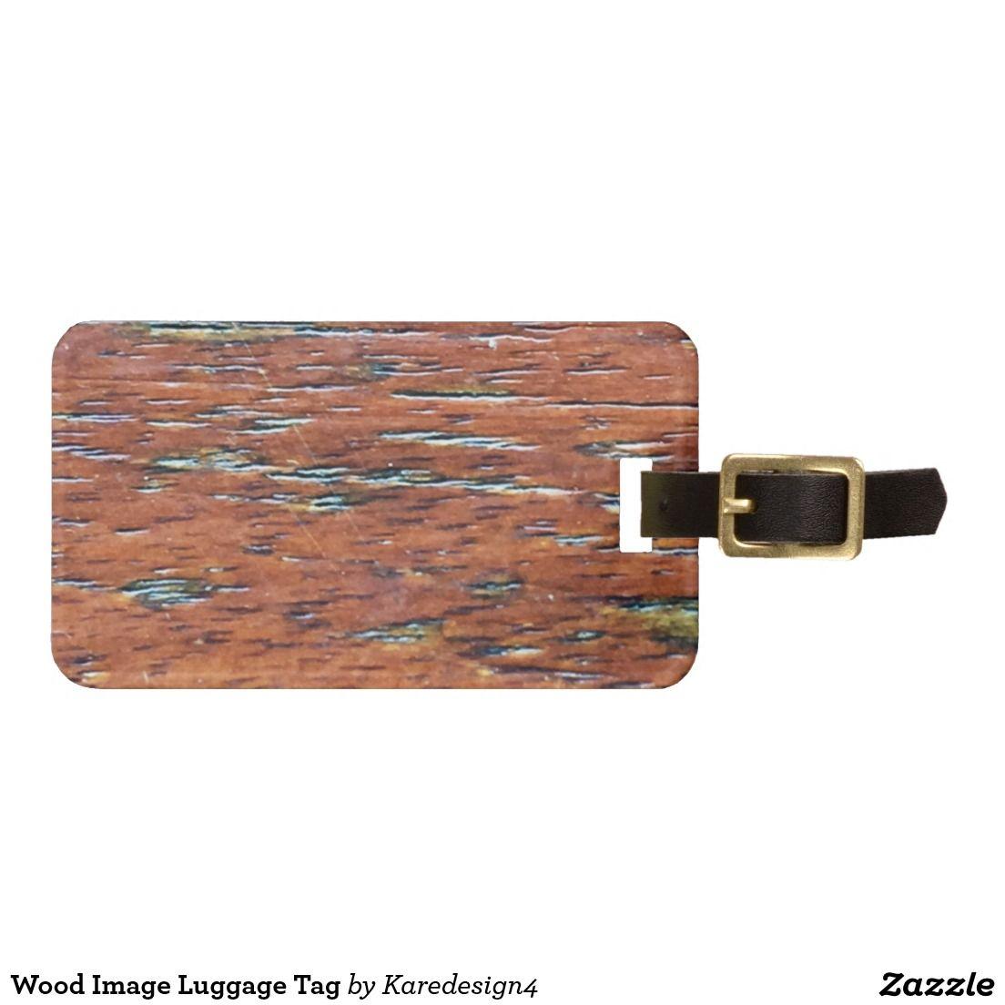 Wood Image Luggage Tag