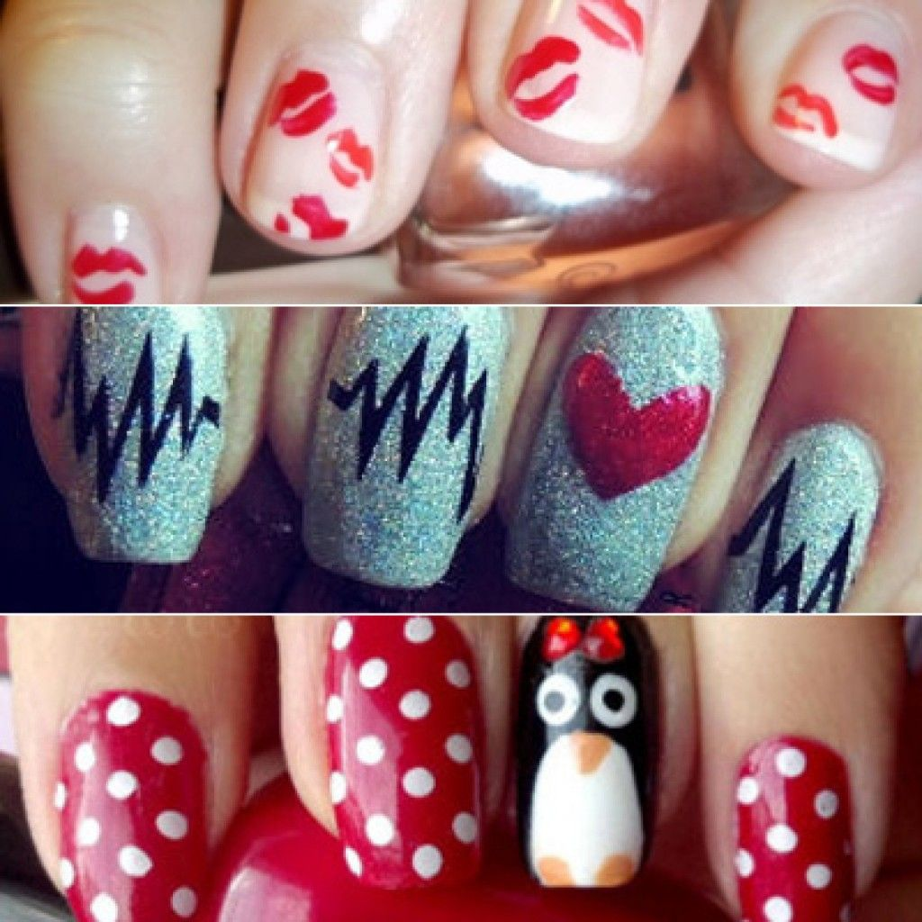 Adorable Valentine S Day Nails N A I L S In 2019 Nail Art Nail