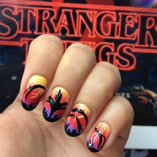 Nail Art Essentials Stranger Things Nail Art Nails Strangerthings