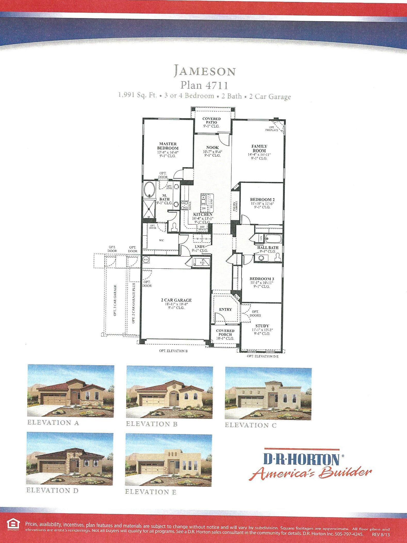 Dr Horton Jameson Floor Plan Floor Plans Dr Horton Homes How To Plan