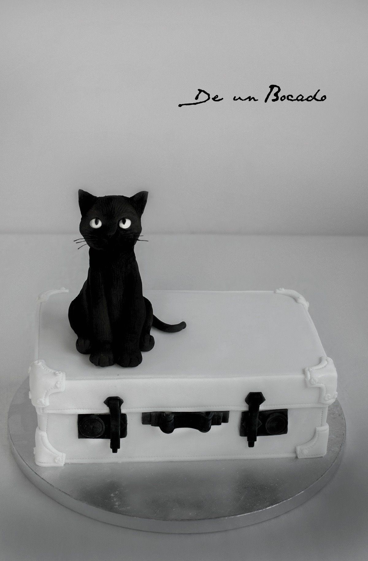 Tarta Maleta Y Gato Negro Black Cat Cake Party Cake Decorating