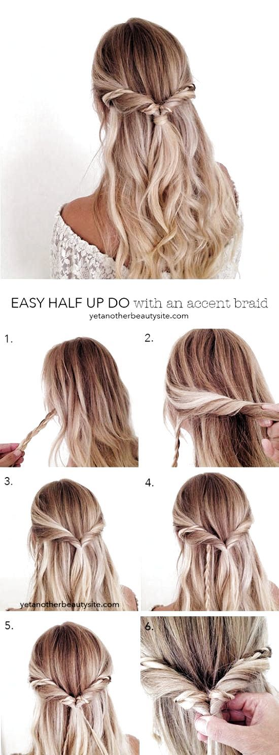 Hairstyle Everyday Casual In 2020 Medium Length Hair Styles Simple Prom Hair Long Hair Styles