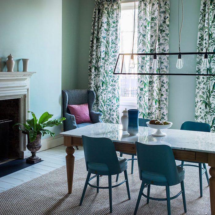 ▷ 1001 + idées déco charmantes pour adopter la nuance vert céladon - lustre pour salle a manger