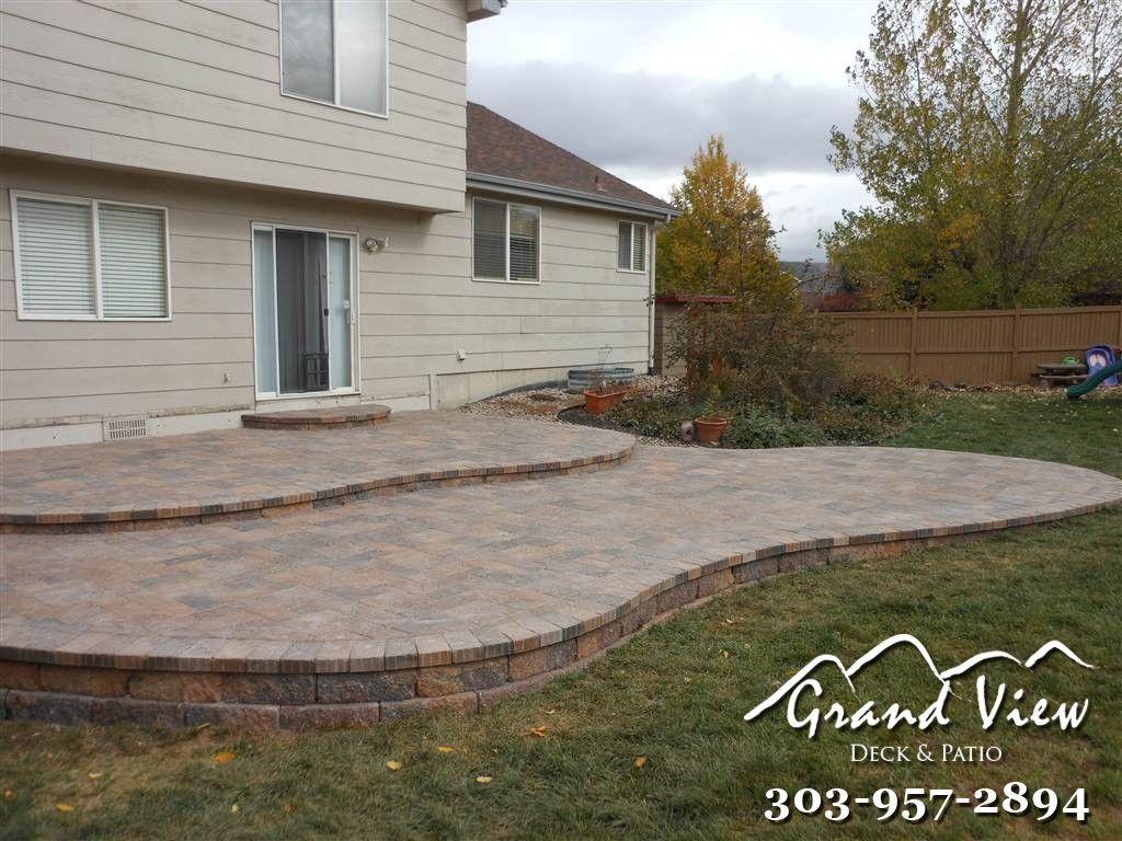 curved patio paver patio patio
