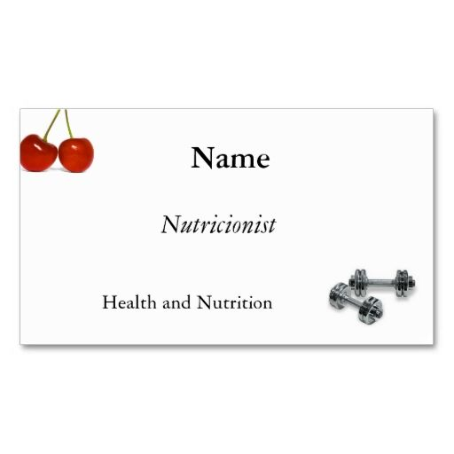 Nutrition, exercise business card templates This great business - line card template