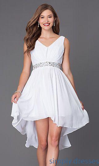 SF-8776w - High Low Short Graduation Dress | Short graduation ...