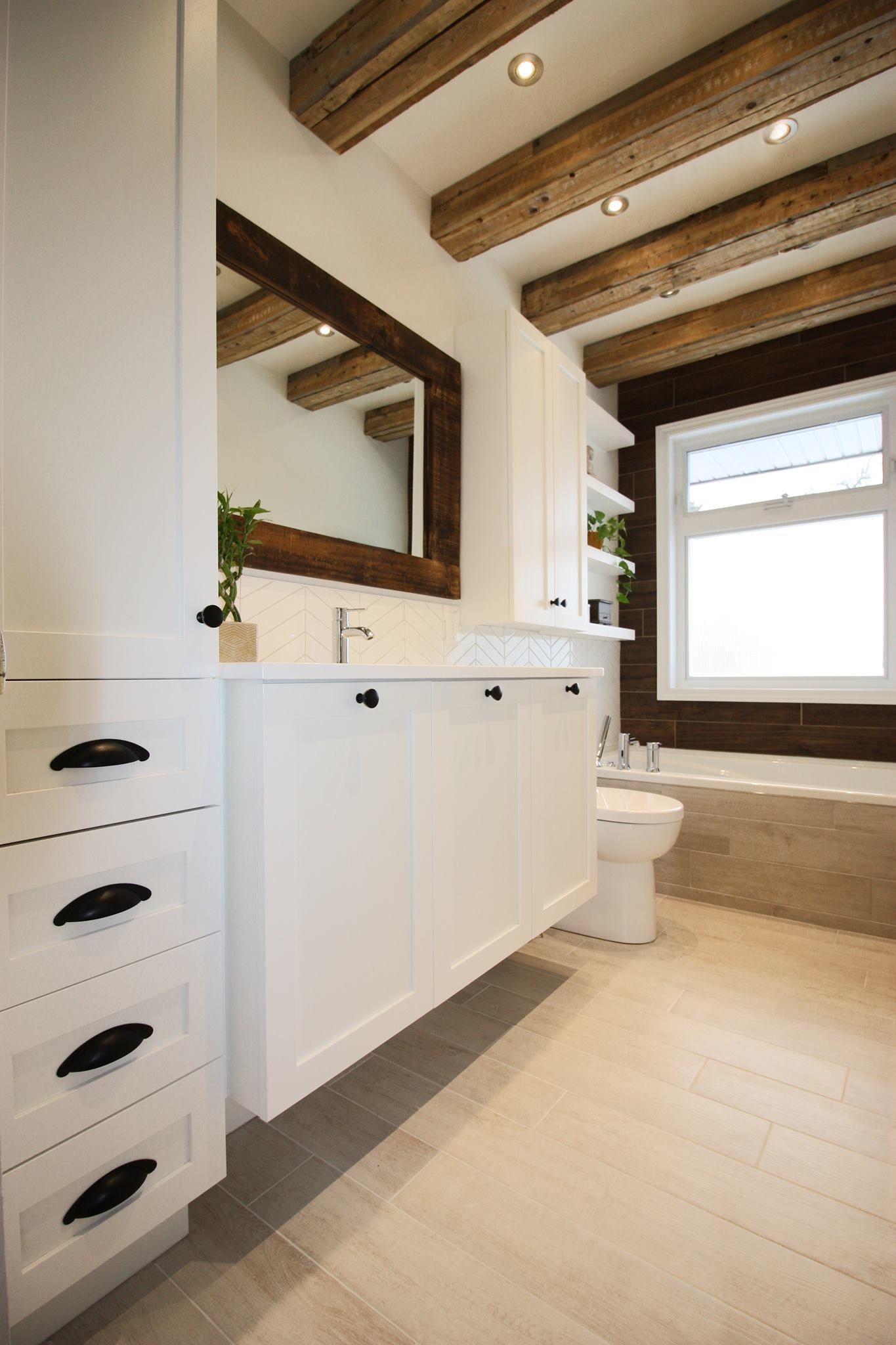 Une salle de bain rustique / contemporaine | Magazine | La ...