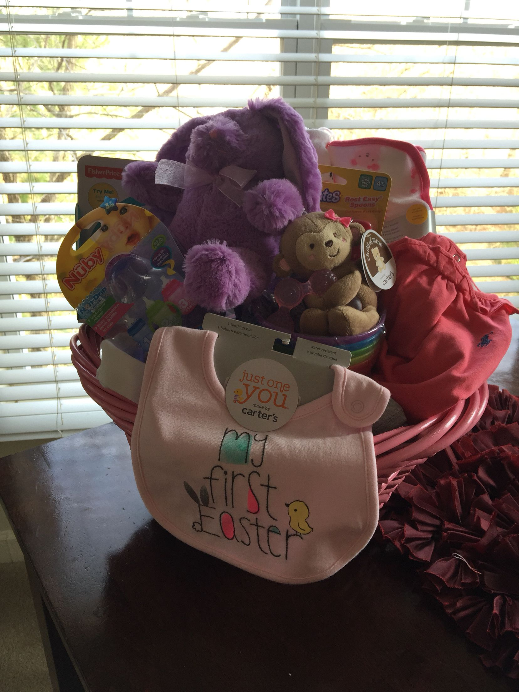 Baby girl first easter basket baby easter basket baby