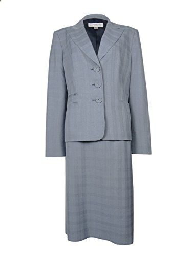 Evan Picone Women's Work Smart Plaid Pattern Skirt Suit 16, Navy  Go to the website to read more description.