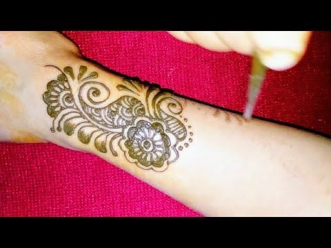 How to apply modern easy arabic henna mehndi design on back hand youtube ms ilia   mehandi tattoos pinterest and also rh