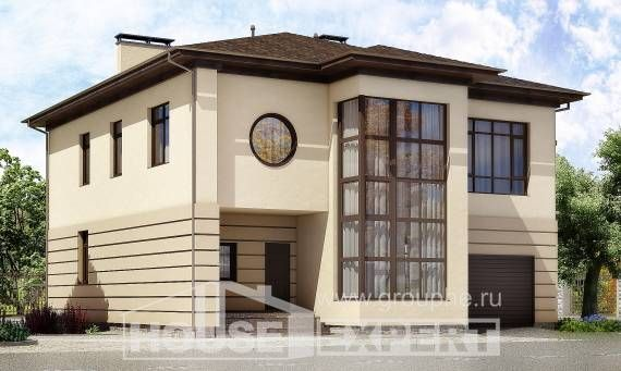 300-006-П Проект двухэтажного дома, гараж, красивый ...