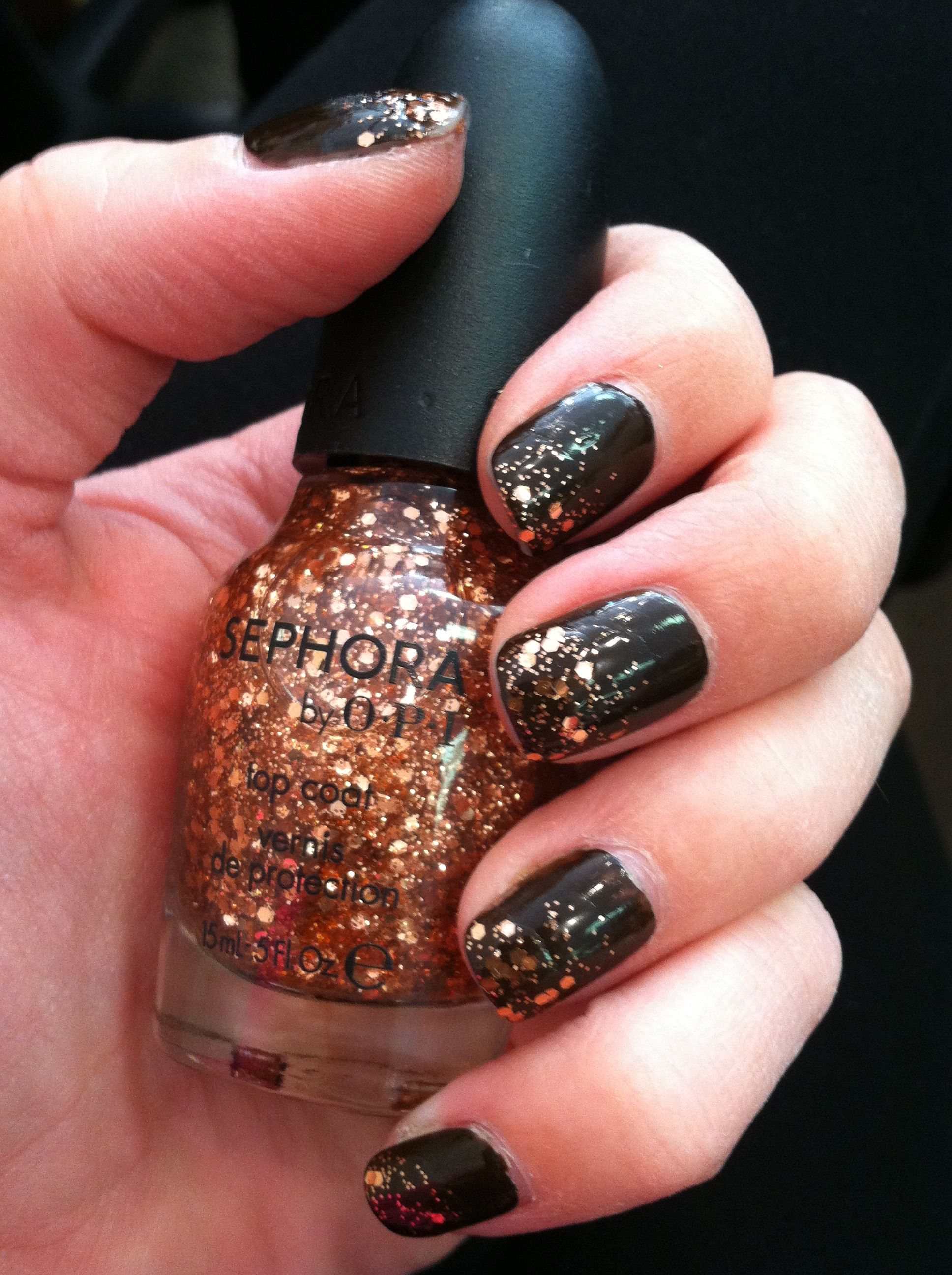 Traffic-stopper copper sephora by OPI over Little Brown Dress by ...