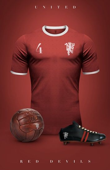 Manchester United - Camisetas vintage de gigantes de Europa