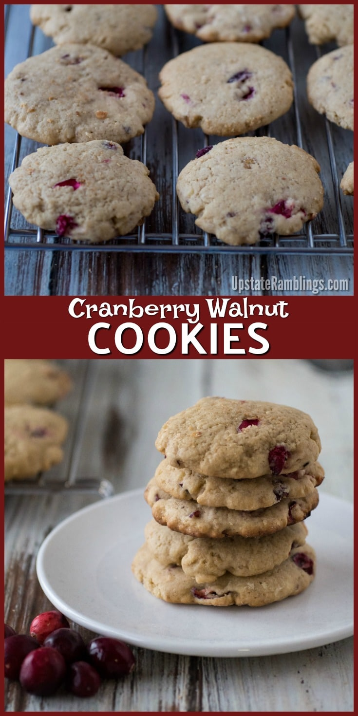 These delicious Cranberry Walnut Cookies are a perfect seasonal treat for the holiday season Perfect for cookie exchanges Tart cranberries combine with walnuts for a cris...