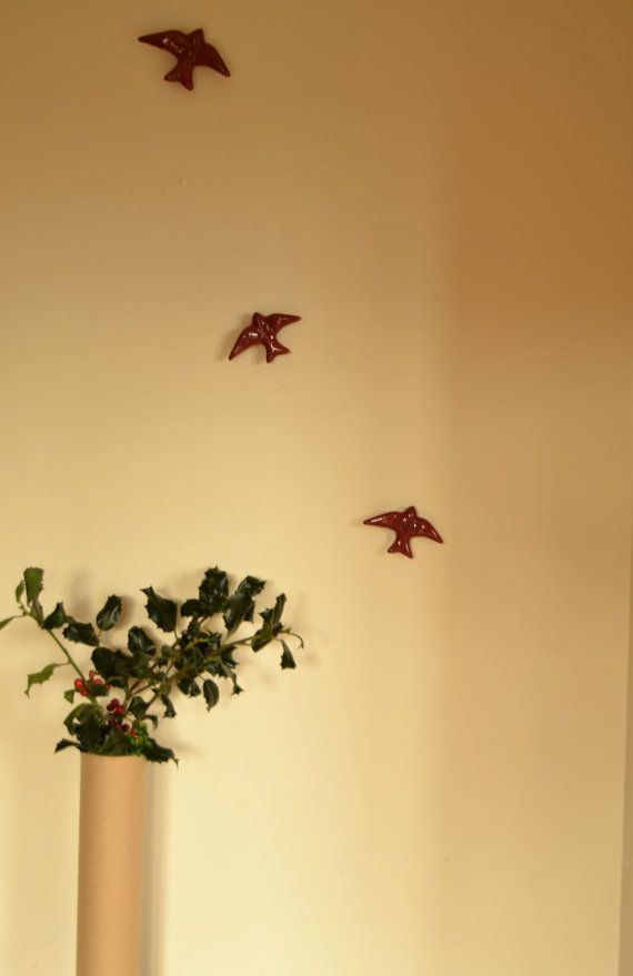 Wall hanging birds set of 4 5 or 6. Colors: by FeiradeBarcelos ...