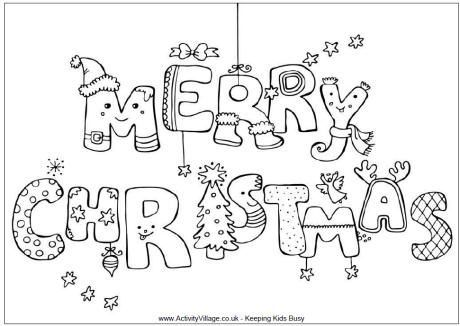 Merry Christmas colouring page | Christmas Crafts, Decorations ...