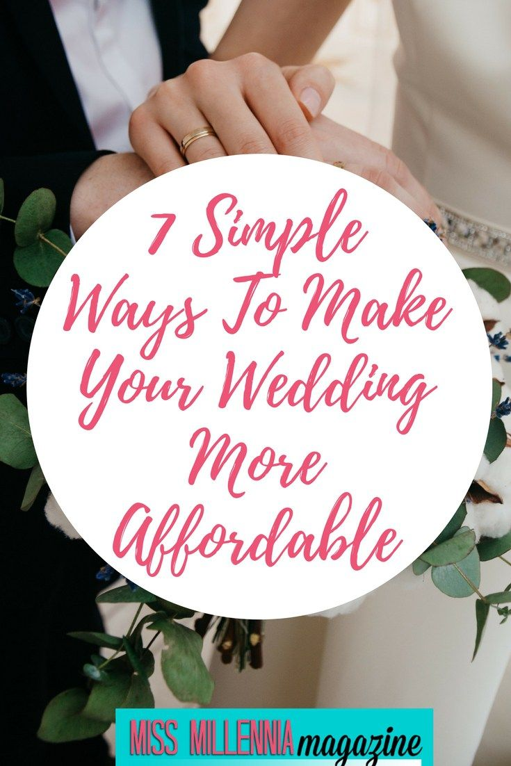 7 Simple Ways To Make Your Wedding More Affordable | Splendry ...