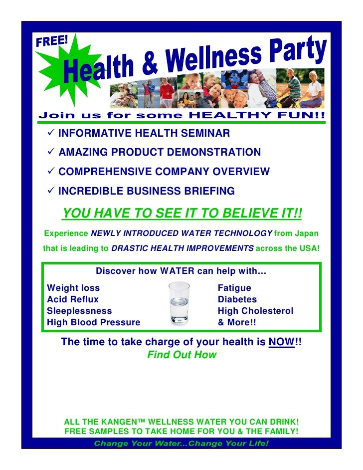 Distributor Wellness Party Flyer by Kangen Synergy Worldwide via - seminar flyer