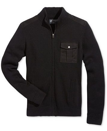 American Rag Men's Full-Zip Mock-Collar Sweater, Only at Macy's   | macys.com