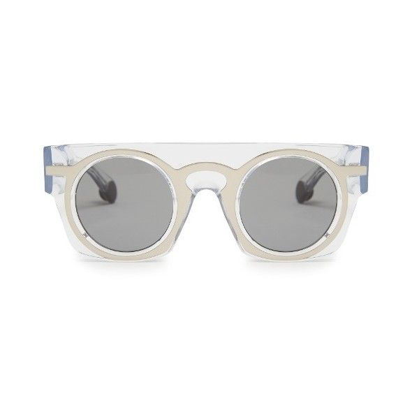 9f7eed2357 Christopher Kane Flat-top layered acetate sunglasses (4 800 ZAR) ❤ liked on  Polyvore featuring accessories