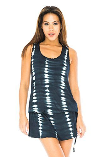 bc9eebaeafe7 Back From Bali Spring Summer Mini dress with back crochet. Striking and  slimming vertical pattern on soft rayon jersey is so comfortable and sexy