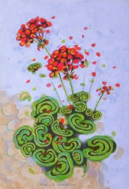 geraniums by federico cortese, Painting - Oil | Zatista