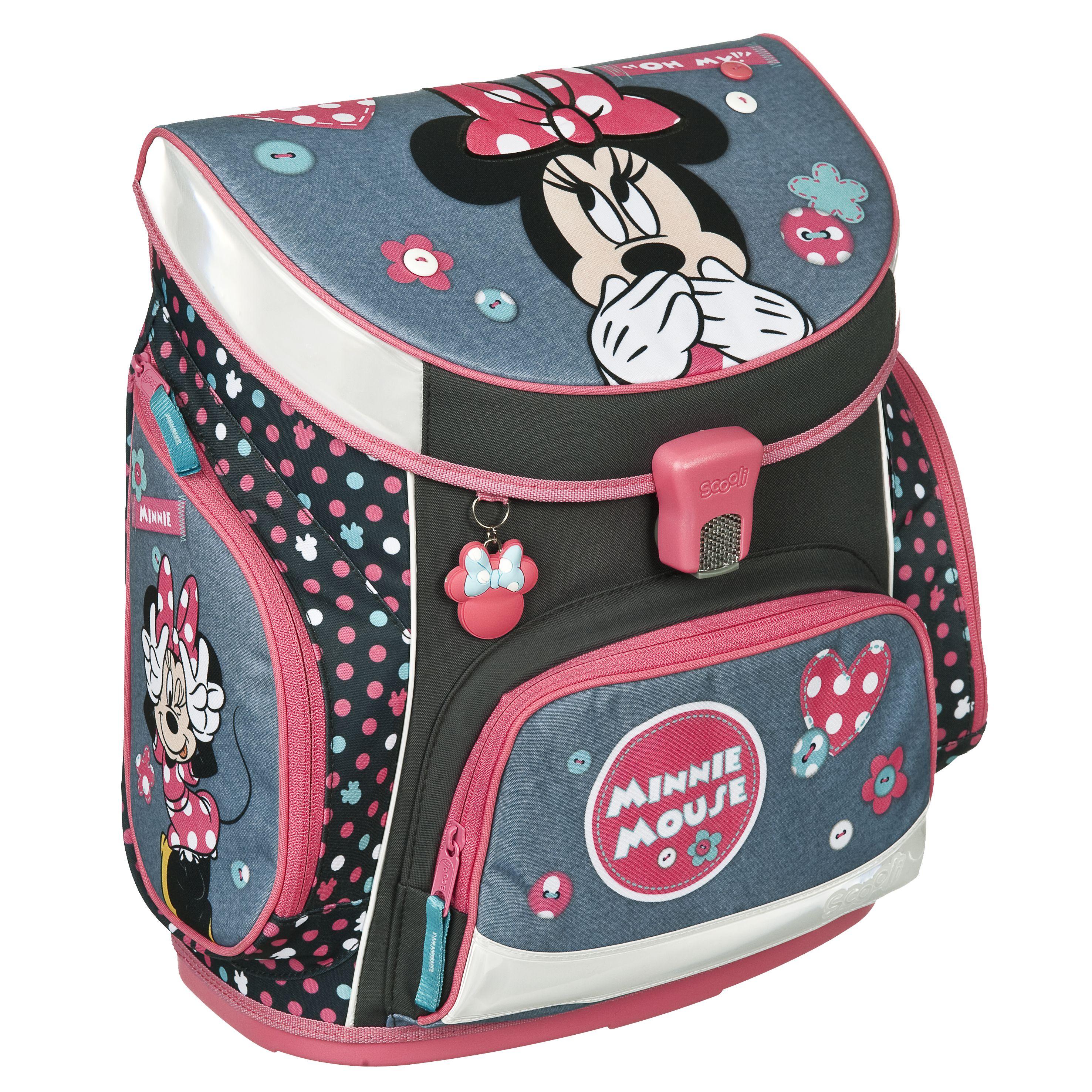 Minnie Mouse Maus Schulranzen Tornister Ranzen Set mit Sporttasche Federtasche
