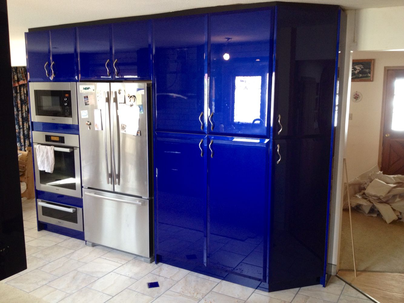 High gloss automotive paint on kitchen cabinets | High ...