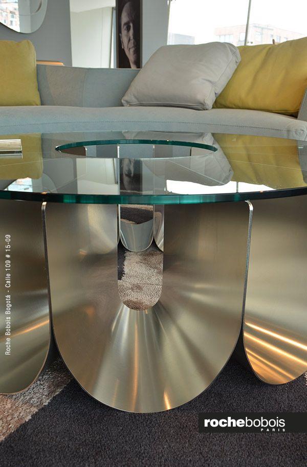 Mesa De Centro Iride Diseño Alessandro Busana Estructura En Arcos De Acero Lacado O Acero Inoxidable Y Sob Mesas De Cristal Muebles Modernos Decoración Moderna