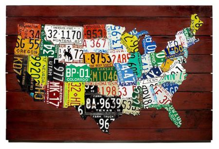 Visit All  States Bucket List Pinterest  States Buckets - Map license plate us
