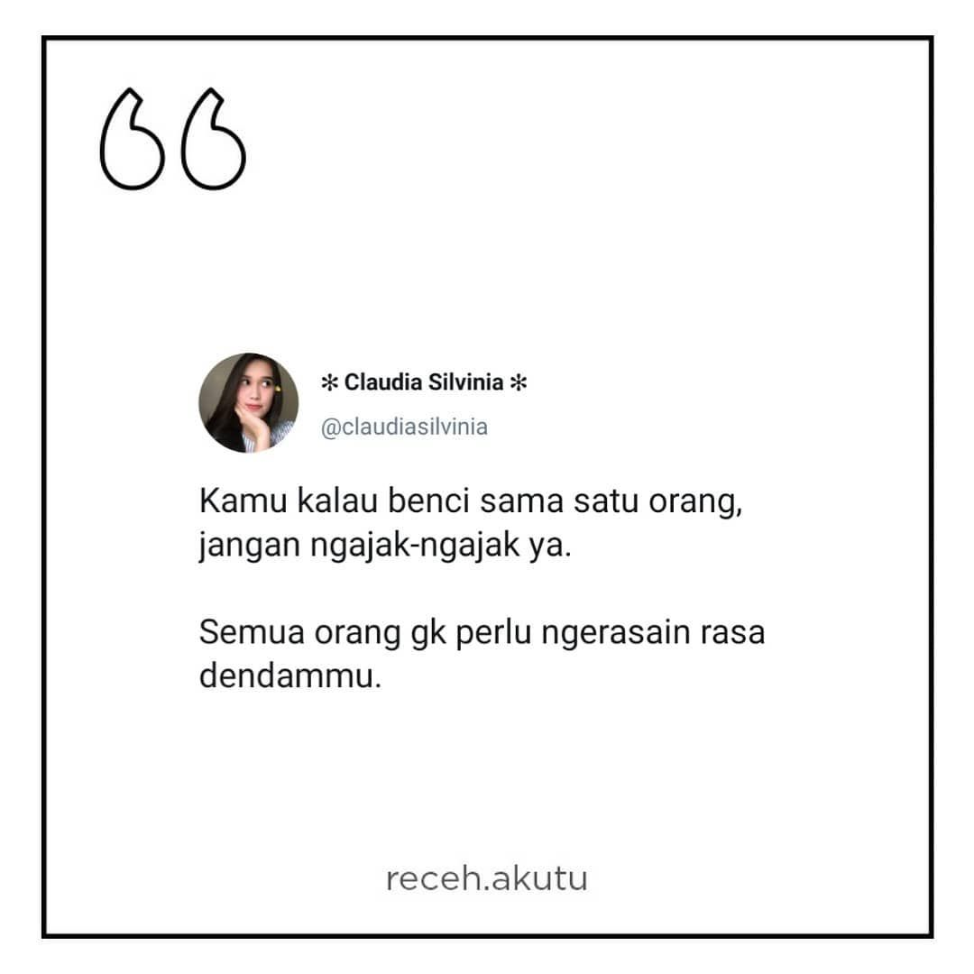 Daily Recehan Di Instagram Noh Dengerin Gosah Ngehasut Hasut Dah