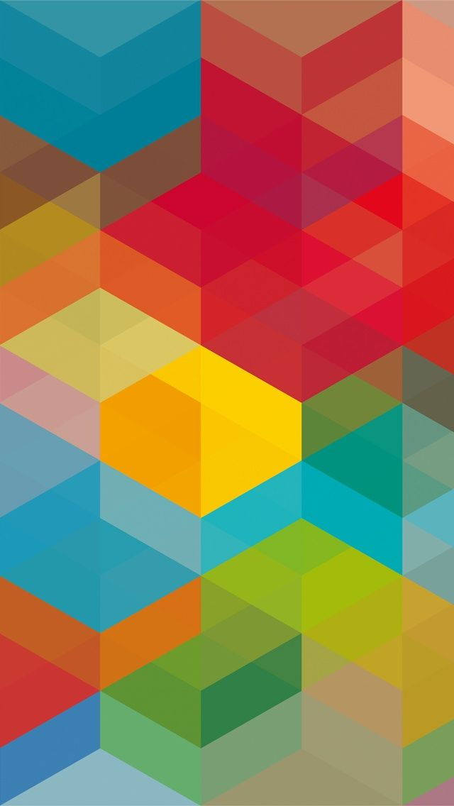 Color cubes iphone wallpaper my iphone pinterest - Geometric wallpaper colorful ...