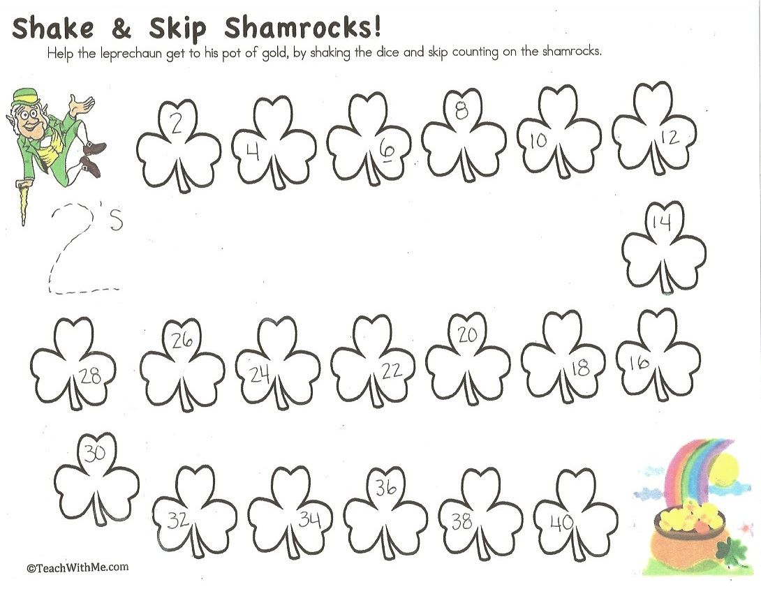 Shamrock Coin Amp Counting Games