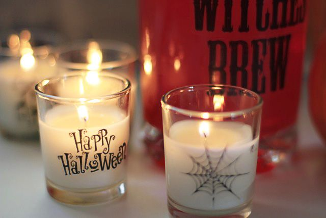 Make Your Own Glass Clings Halloween party decor, DIY Halloween - halloween party decorations diy