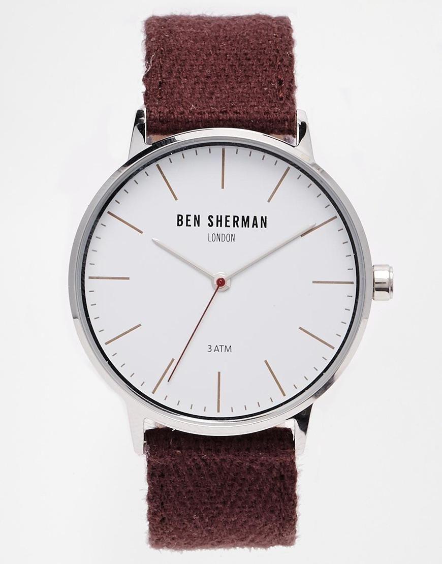 Ben Sherman | Ben Sherman Burgundy Coloured Strap Watch WB009P at ASOS