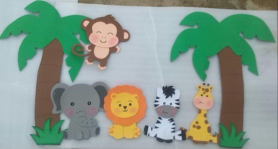 figuras en foami animales de la selva o safari   Para mi   Pinterest ...